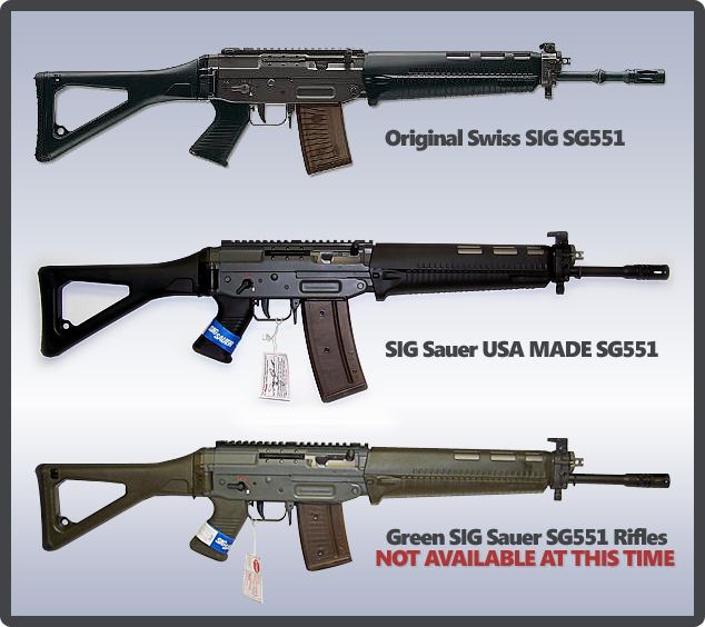 A comparison of the original Swiss SG551 and the USA-Made SG551